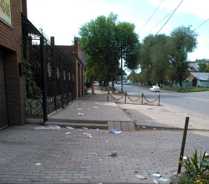В Самаре мусорный контейнер нарушил правила дорожного движения - и его демонтировали | CityTraffic