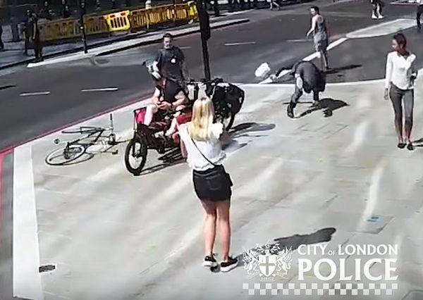 Велосипедист ударил пешехода головой так, что тому зашивали рану на лице: видео | CityTraffic