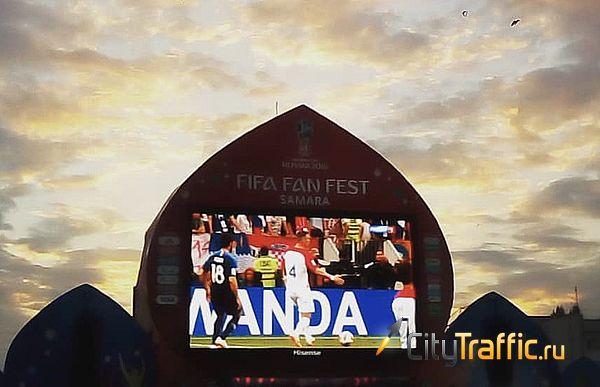 Во время Чемпионата мира по футболу на фанфесте в Самаре использовался китайский экран, не одобренный ФИФА | CityTraffic