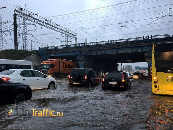 Дождь превратил утренние дороги Тольятти в ад   CityTraffic
