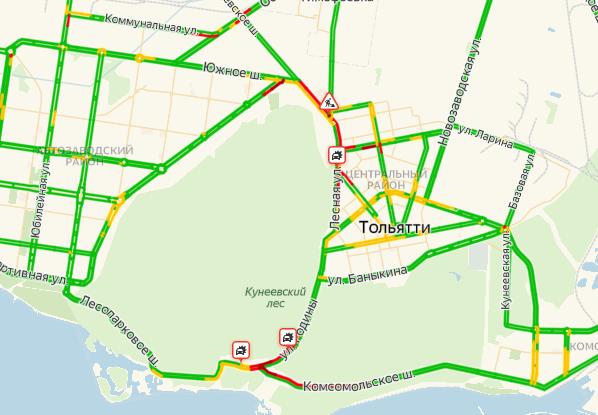 В Тольятти из-за ремонтных работ и ДТП парализовало дороги, связывающие районы города | CityTraffic