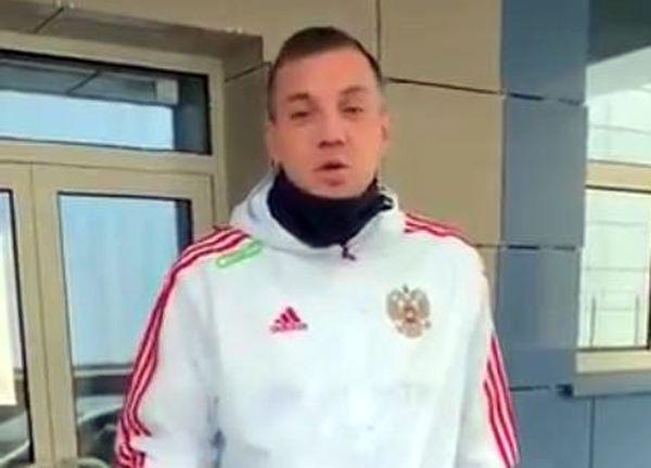 Перед матчем  с Шотландией нападающий российской сборной Артем Дзюба передал привет юным футболистам из Сызрани: видео | CityTraffic