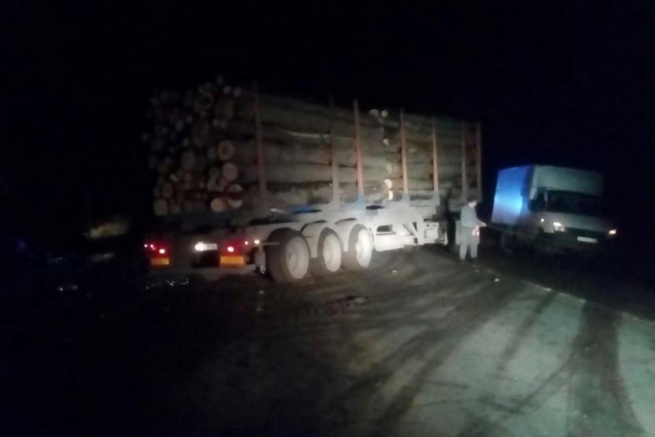 В Самарской области грузовик с древесиной протаранил вазовскую легковушку | CityTraffic
