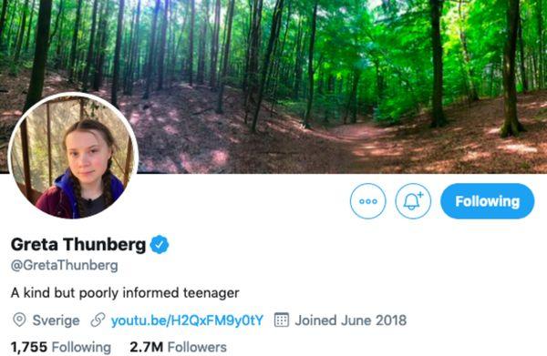 Грета Тунберг отреагировала на слова Владимира Путина и изменила свой профиль в соцсети | CityTraffic