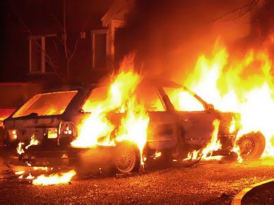 Вчера вКомсомольском районе сгорел автомобиль