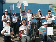 Сегодня в «Фанни–парке» прошли городские соревнования среди юных велосипедистов