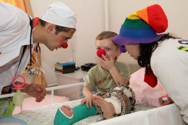 Клоуны будут работать всамарской больнице