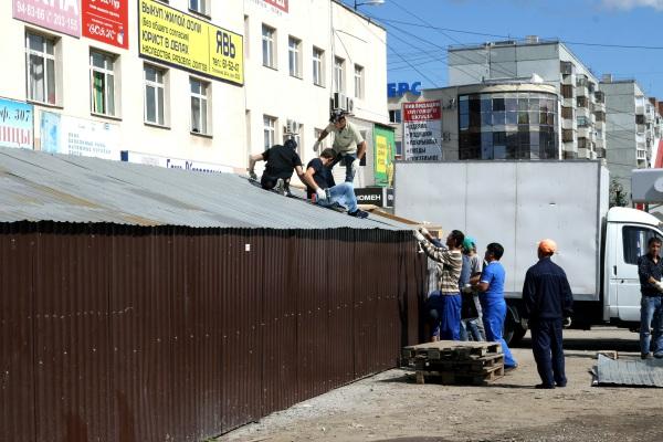 В Тольятти снесли рынок возле Каретного двора