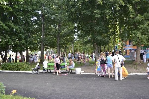В городском парке Жигулевска заасфальтируют аллею
