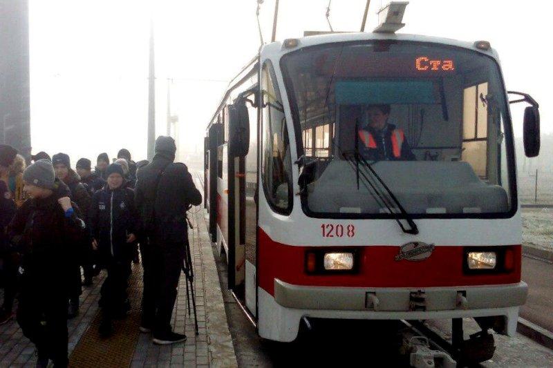 "В Самаре с1 февраля до стадиона ""Самара Арена"" можно будет на трамвае №14"