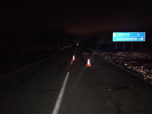 На автодороге «Тольятти-Хрящевка» водитель «Весты» насмерть сбил пешехода | CityTraffic