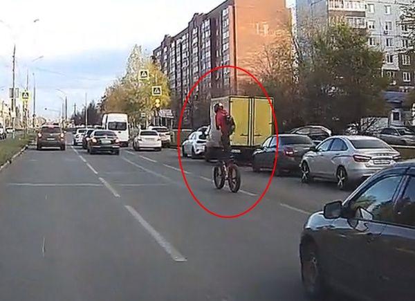 Житель Тольятти ездил на велосипеде стоя и получил штраф 800 рублей: видео | CityTraffic