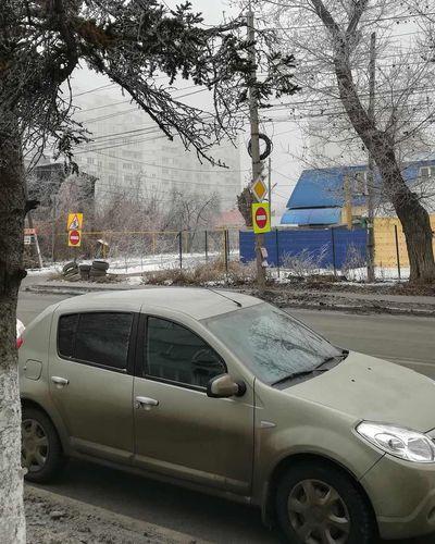 В Самаре неизвестные украли знак из-под носа чиновников дептранса | CityTraffic