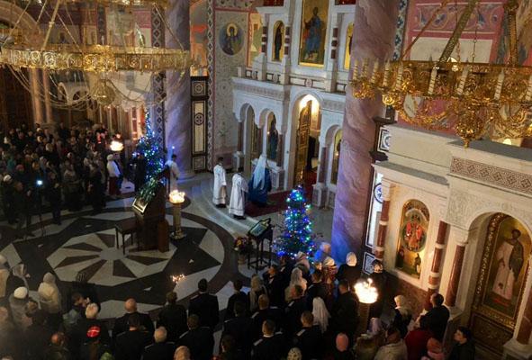 В Софийском соборе Самары Рождество встречали сотни верующих | CityTraffic