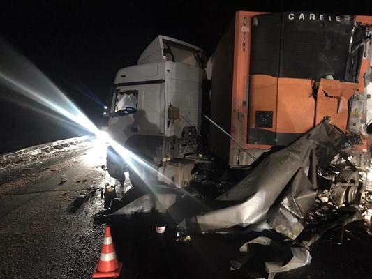На трассе М-5 в Самарской области лоб в лоб столкнулись два грузовика, один водитель погиб | CityTraffic