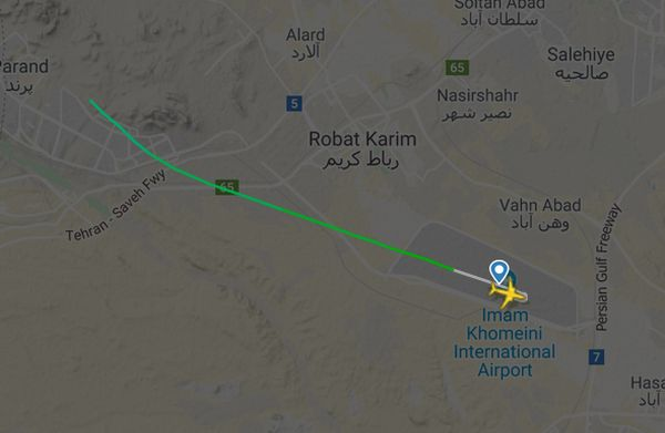 Очевидцы заявляют, что сняли на видео падение украинского самолета в Иране | CityTraffic