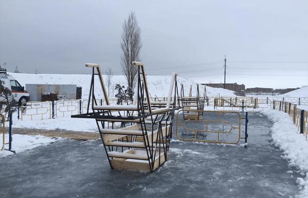 В Тольятти спасатели оборудовали купели на территории технического музея: видео | CityTraffic