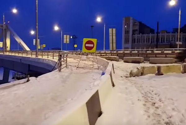 В Самаре пешеходам запретили ходить по Фрунзенскому мосту | CityTraffic