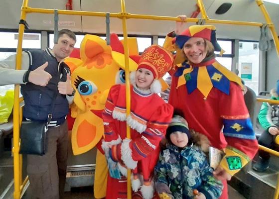 В автобусах Тольятти с 19 февраля можно будет встретить шутов | CityTraffic