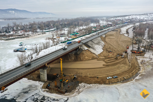 В Самаре работы по строительству моста через реку Сок могут временно приостановить из-за паводка | CityTraffic