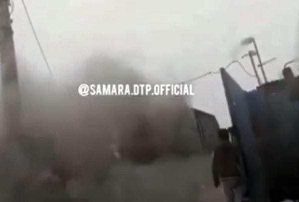 В Самаре воскресным днем загорелся КамАЗ: видео   CityTraffic
