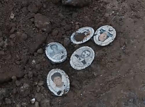 В Тольятти к дому привезли землю с фрагментами памятников и фотографиями с могил: видео | CityTraffic