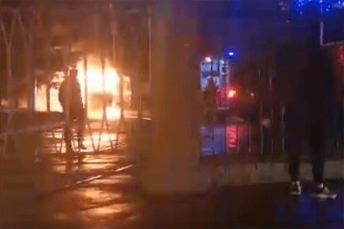 Ночью в Самаре полыхали два трамвая, пожар тушили 10 человек | CityTraffic