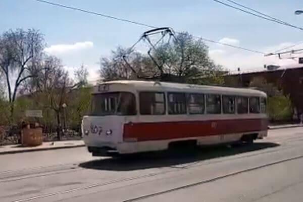 В Самаре масочный режим соблюдает даже трамвай: видео | CityTraffic