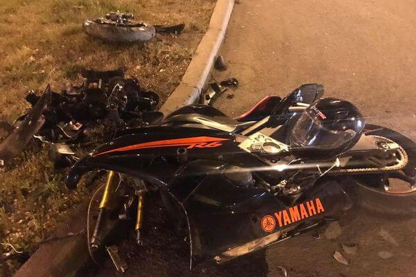"В Самаре ""Ниссан"" сбил мотоциклиста на ""Ямахе"" | CityTraffic"