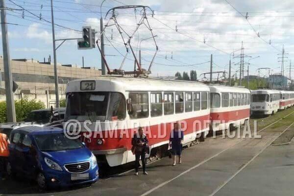 На Заводском шоссе в Самаре произошло ДТП с трамваем | CityTraffic