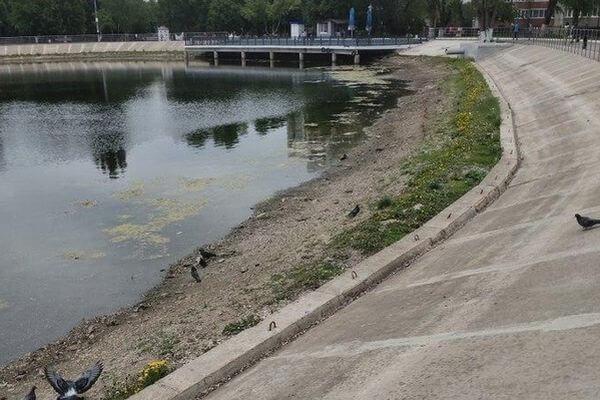 Жители Самары заявили, что озеро впарке Металлургов начало мелеть
