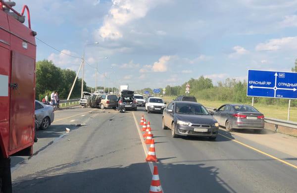 На дороге в Красноярском районе Самарской области столкнулись 4 автомобиля   CityTraffic
