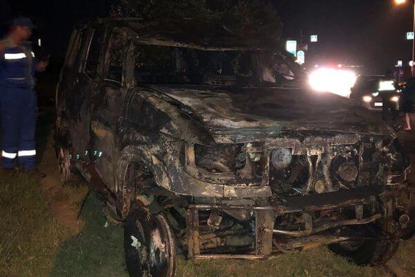 В Самаре ночью взорвался УАЗ, пьяный водитель выжил: видео | CityTraffic