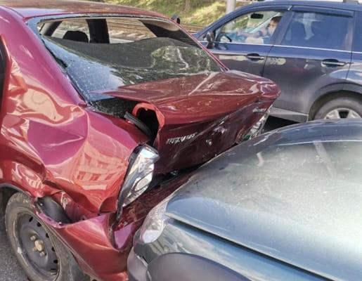 В Самаре в пробке столкнулись 4 автомобиля | CityTraffic
