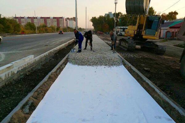 На второй очереди Самарского моста начали делать тротуары