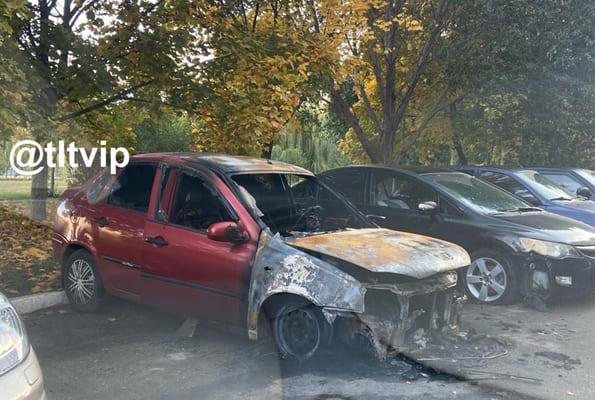 Ночью в Тольятти 7 человек тушили горящую вазовскую легковушку | CityTraffic