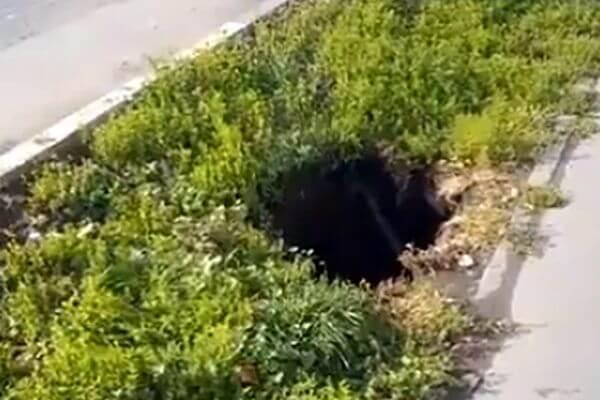 В центре Самары из провала в земле идет пар: видео | CityTraffic
