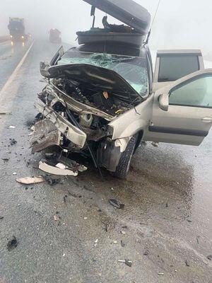 """""""Ауди"""" разбилась о """"Ларгус"""" на трассе М-5 в Самарской области   CityTraffic"""