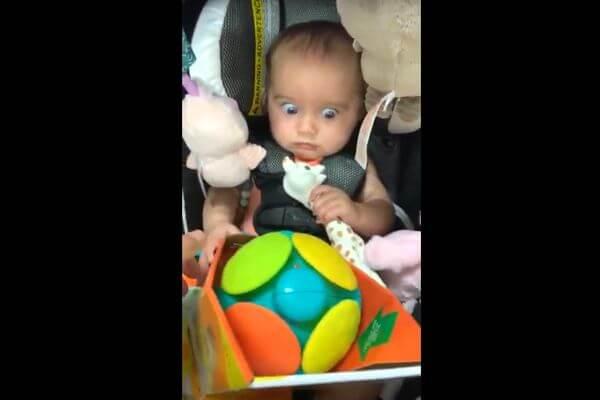 Девочка испытала шок, глядя на игрушку в магазине, а родители сняли это на видео | CityTraffic