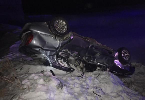 В селе Шигоны перевернулся Chevrolet Lanos, водитель и пассажир попали в больницу | CityTraffic