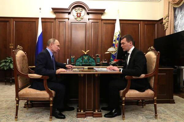 Владимир Путин встретился сМихаилом Дегтярёвым