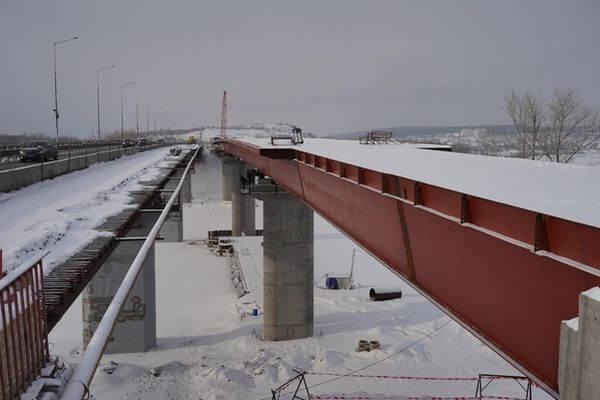 Завершена надвижка пролетного строения моста через реку Сок   CityTraffic