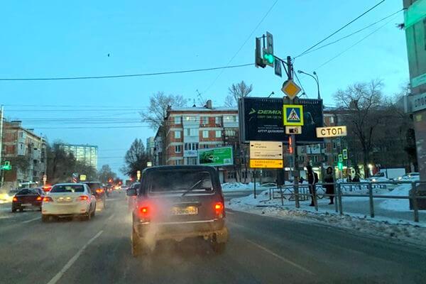 В Самаре ветер развернул светофоры на нескольких улицах