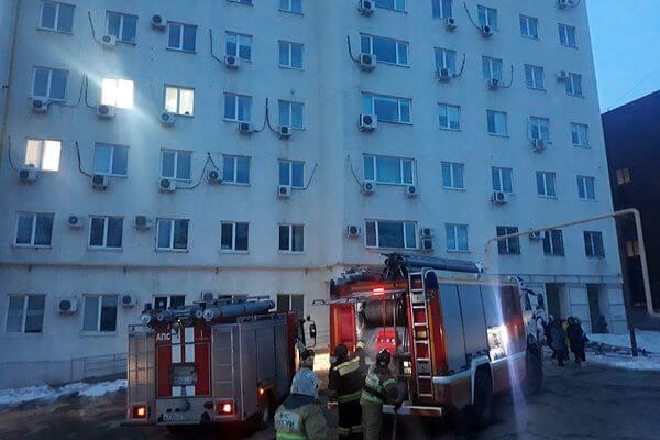 В Самаре горел бизнес-центр, эвакуировали 150 человек   CityTraffic