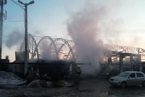 Под Тольятти ночью сгорела СТО с 7 автомобилями | CityTraffic