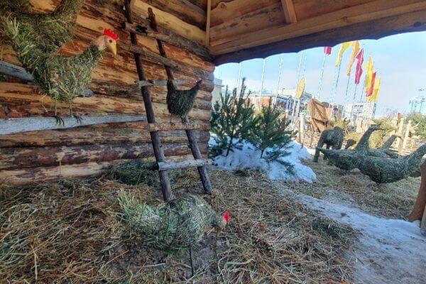 В центре Самары пасутся куры и гуси из сена | CityTraffic
