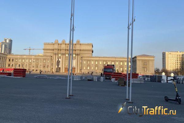 В Самаре на площади Куйбышева начался монтаж трибун ко Дню Победы | CityTraffic
