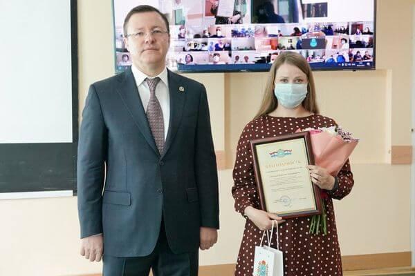 Губернатор Самарской области приехал на станцию Скорой помощи, чтобы поздравить медиков | CityTraffic