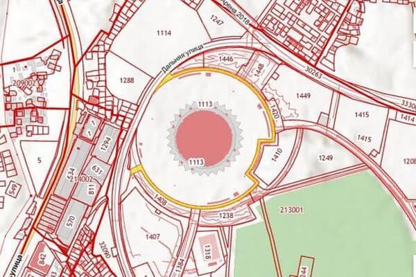 В Самаре установят сервитут на 49 лет  на участок для устройства примыкания к дороге вокруг стадиона   CityTraffic