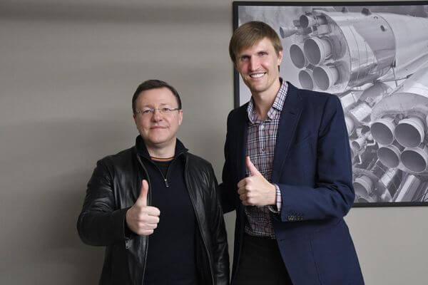 Дмитрий Азаров и президент РФБ Андрей Кириленко обсудили планы по развитию  баскетбола в Самарской области   CityTraffic